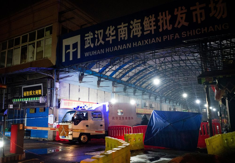 Wuhan seafood market in china Coronavirus